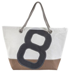 "Maritime Sailcloth-Bag ""Sailbag Carla"", The Blue and Grey Version"