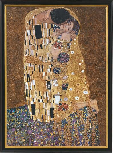 """Gustav Klimt: Bild """"Der Kuss"""" (1907-08), gerahmt"""