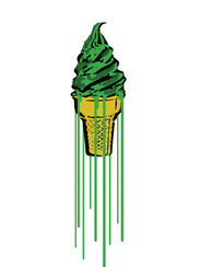 "Bild ""Green Glitter Icecream"" (2015)"