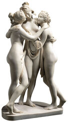 "Sculpture ""The Three Graces"" (1813-1816), reduction in artificial marble"