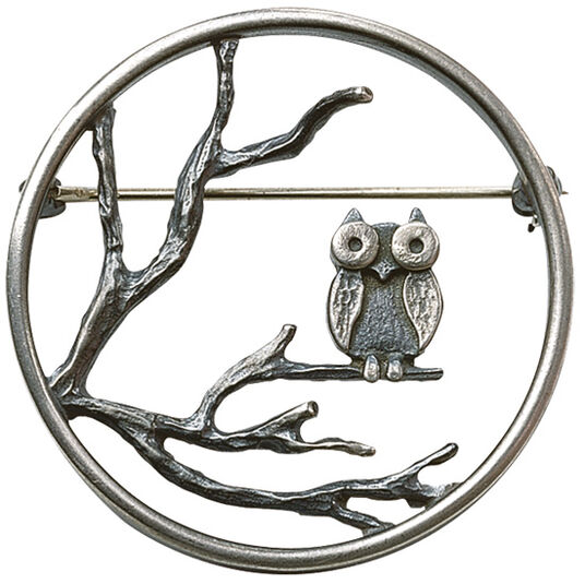 "Klaus Börner: ""The owl brooch"", 925 sterling silver"