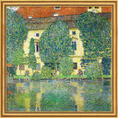 "Painting ""Castle Chamber on Lake Atter III"" (1910) in gallery framing"