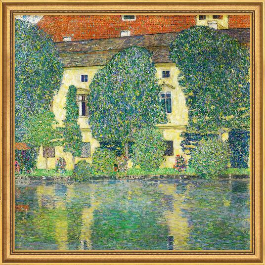 """Gustav Klimt: Painting """"Castle Chamber on Lake Atter III"""" (1910) in gallery framing"""