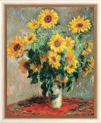 """Bild """"Sonnenblumen"""" (1880), gerahmt"""