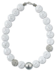 """Pearl necklace """"Crystal Ice"""""""