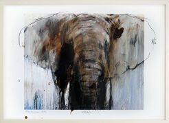 "Bild ""Elefant 3"" (2017) (Unikat)"