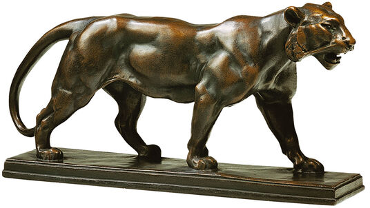"Antoine-Louis Barye: Sculpture ""Panther"" bronze Fine Art edition"
