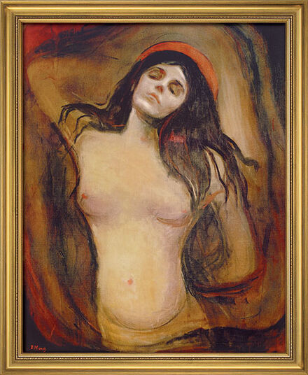 "Edvard Munch: Painting ""Madonna"", 1894"
