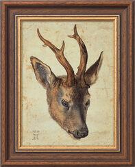 """Bild """"Kopf eines Rehbocks"""" (1514), gerahmt"""