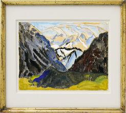 """Bild """"Gebirge"""" (1924) (Unikat)"""