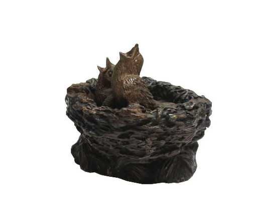 "Garden sculpture ""Bird's Nest with birdies"", bronze"
