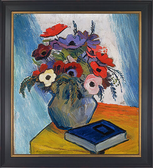 "August Macke: Picture ""Still life with anemones and blue book"" (1911)"