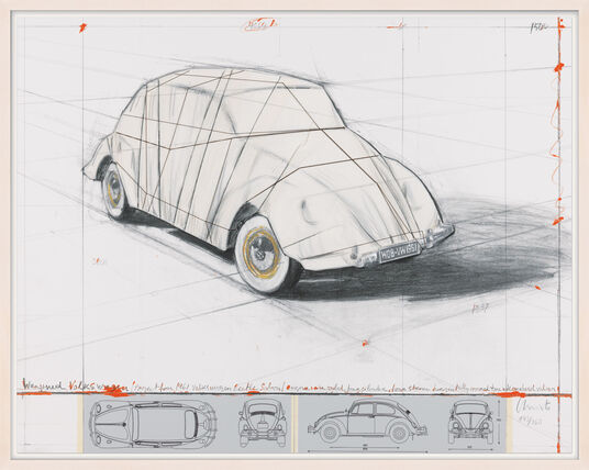 "Christo: Bild ""Wrapped Volkswagen"" (2013)"