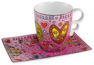 "Kaffeetasse ""Peace of Love"", Porzellan"
