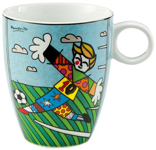 """Romero Britto: Porzellanbecher """"Goal!"""""""