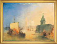 "Painting ""Venice"" (1818) in studio frame"