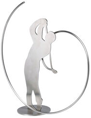 "Sculpture ""Golfer"", Stainless Steel"