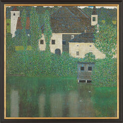 "Painting ""Schloss Kammer on Lake Attersee"" (1908) in gallery frame"