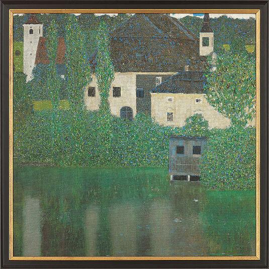 """Gustav Klimt: Painting """"Schloss Kammer on Lake Attersee"""" (1908) in gallery frame"""