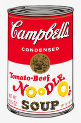 "Bild ""Warhols Sunday B. Morning - Campbell´s Soup - Tomato Beef"" (1980er Jahre)"