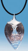 "Crystal glass necklace ""Owl"""