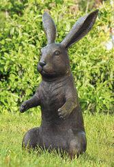 """Garden Sculpture """"Sitting Hare"""", Bronze"""