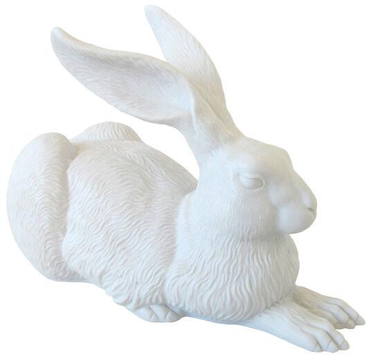 """Ottmar Hörl: Skulptur """"Dürer-Hase"""", Version Porzellan weiß bisquit"""