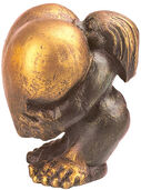 "Skulptur ""Heart of Gold"" (Frau), Kunstguss"