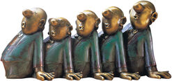 Sculpture 'Comedian Harmonists', version in bronze