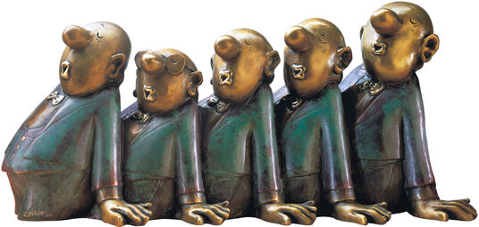 "Loriot: Skulptur ""Comedian Harmonists"", Version in Bronze"