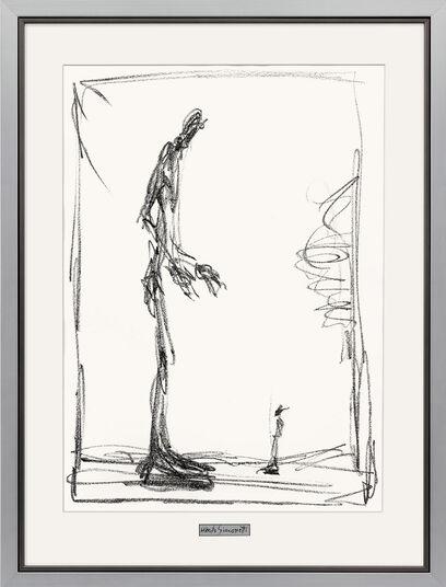 """Alberto Giacometti: Bild """"Dessin I (Groß und klein)"""", gerahmt"""