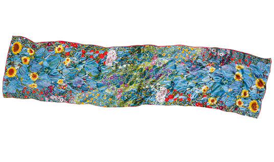 "Gustav Klimt: Silk Scarf ""Farm Garden with Sunflowers"""