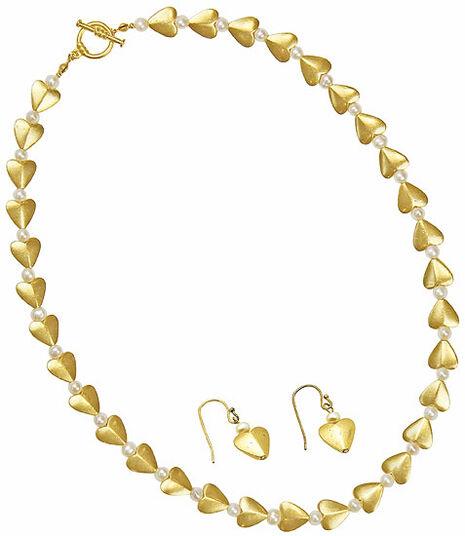 """Heart jewellery Set """"Silk Road"""""""
