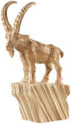 "Sculpture ""Capricorn"", Artificial Casting Wood Optic"