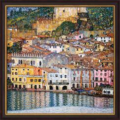 """Painting """"Malcesine on Lake Garda"""" (1913) Framed"""