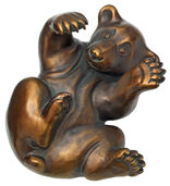 "Sculpture ""Bear Cubs"", Version in Artificial Bronze"