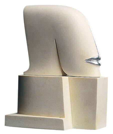 "Günther Stimpfl: Sculpture ""Letter"", Artificial marble edition"