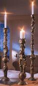Set of bronze chandelier, unpainted