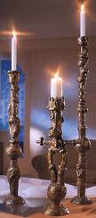 Bronze-Leuchter-Set, unbemalt