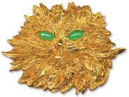 """Brosche """"La Gatta"""", 925er-Sterlingsilber vergoldet"""