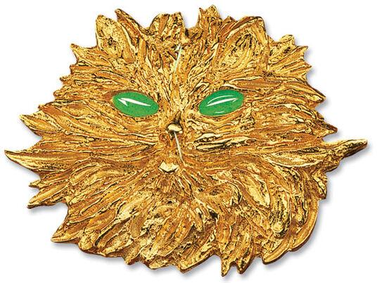 "Costanzo Mongini: Brosche ""La Gatta"", 925er-Sterlingsilber vergoldet"