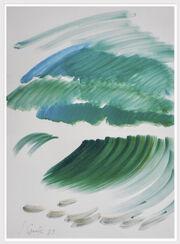 "Bild ""Grüne Variationen"" (1989) (Unikat)"