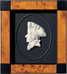 "Miniatur-Porzellanbild ""Friedrich II."", gerahmt"