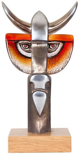 """Mats Jonasson: Glasskulptur """"Taurus III"""""""