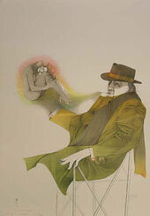 """Bild """"Il mago"""" (1983), ungerahmt"""