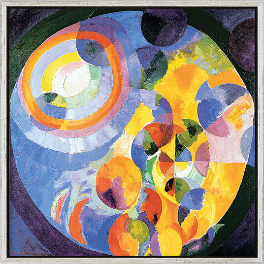 "Robert Delaunay: Painting ""Formes Circulaires"" (1912) in studio framing"