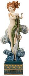 """Porcelain sculpture """"Venus"""", hand painted"""