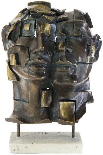 """Andreas Gomez: Skulptur """"Zweisamkeit"""", Kunstmarmor bronziert"""