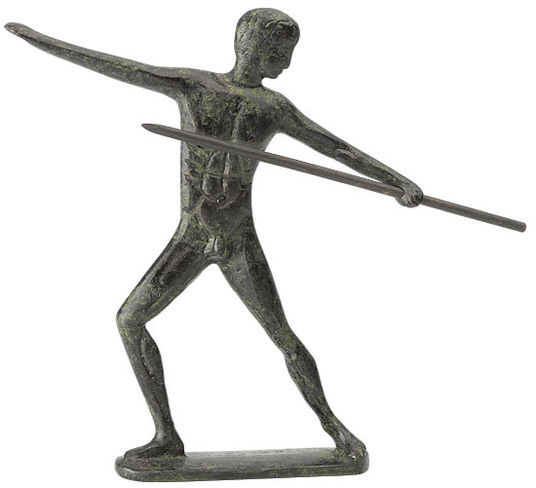 "Statuette ""javelin Thrower"" After Olympic Model"