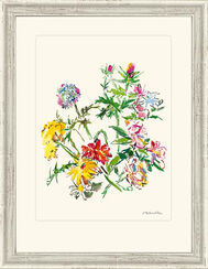 """Bild """"Sommerblumenstrauß mit Mannstreu"""", 1969, gerahmt"""